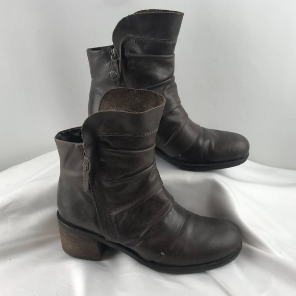 Geox Brown Leather Booties